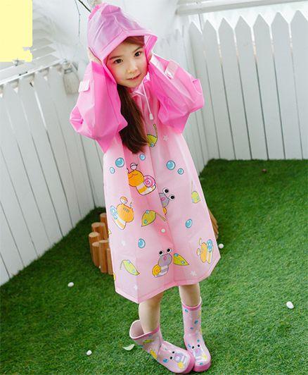 Pre Order - Superfie Bees Printed Rain Coat - Pink