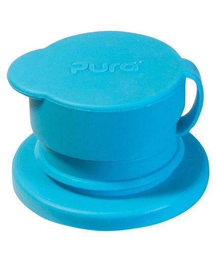 Pura Sport Big Mouth Silicone Sport Bottle Top - Aqua Blue
