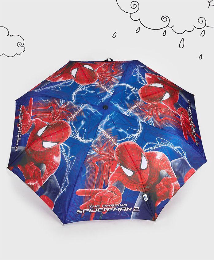Marvel Spider Man Theme Umbrella - Red Blue