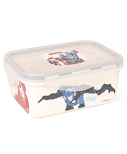 Marvel Avengers Printed Lunch Box - White