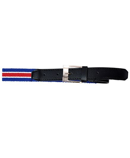 Miss Diva Striped Belt - Blue White & Red