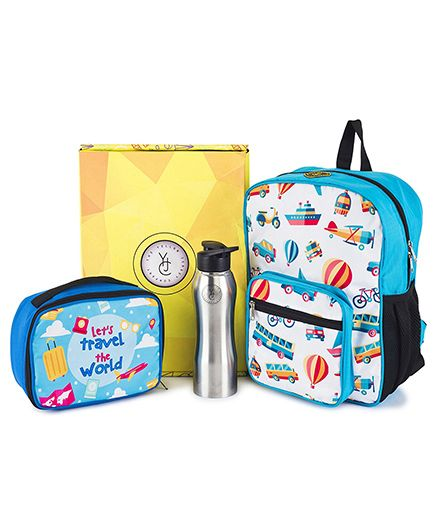 The Yellow Jersey Company School Kit of 3 Travel Theme - Blue