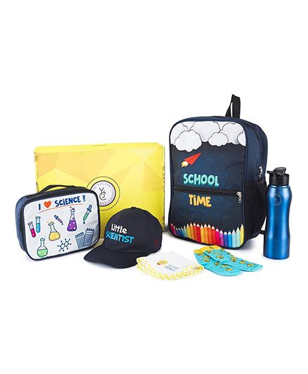 The Yellow Jersey Company School Kit of 6 Scientist Theme - Navy Blue
