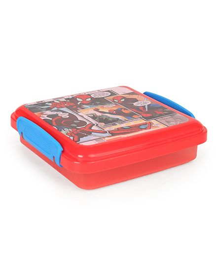 Marvel Lunch Box Spider Man Print Red & Blue - 330 ml