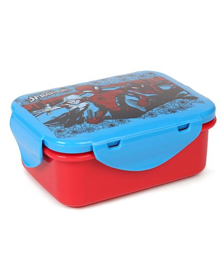 Marvel Lunch Box Spider Man Print - Red & Blue