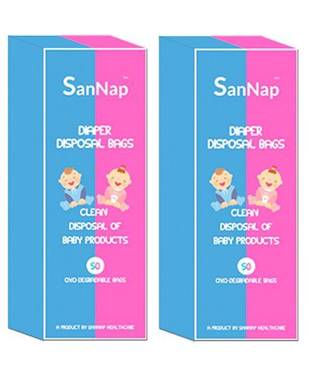 SanNap Baby Diaper Disposal Bags - 100 Pieces