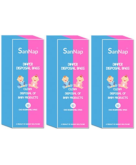 SanNap Baby Diaper Disposal Bags - 150 Pieces