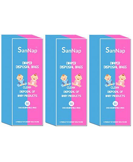 SanNap Baby Diaper Disposal Bags - 150 Pieces