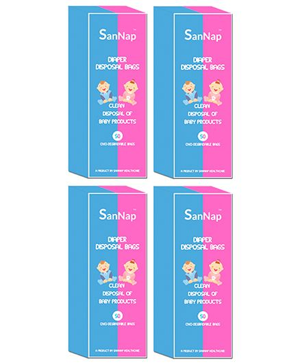 SanNap Baby Diaper Disposal Bags - 200 Pieces