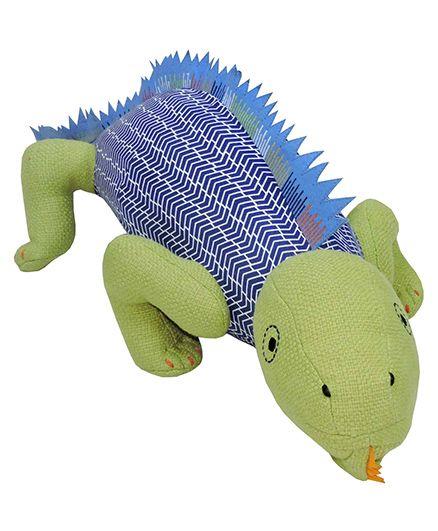 Sunlord Iguana Plush Soft Toy Green Blue - 45 cm