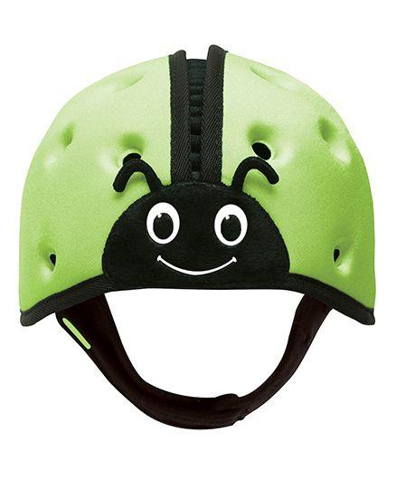 SafeheadBABY Soft Baby Helmet Lady Bird Design - Green