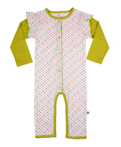 Buzzy - Full Sleeves Romper With Dot Print