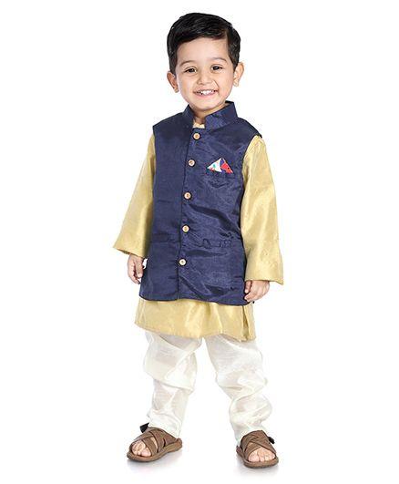 Little Pocket Store Solid Print Nehru Jacket - Purple