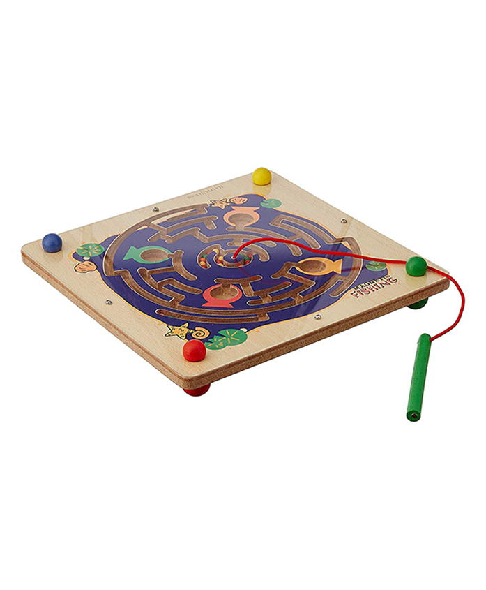 Brainsmith Magnetic Fishing Wooden Toy - Multi Color