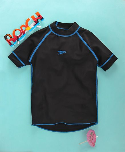 Speedo Half Raglan Sleeves Sun Top - Black