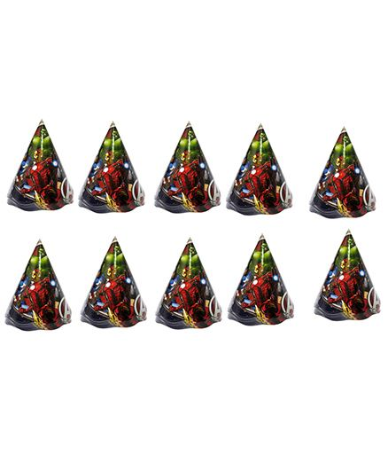 Funcart Avengers Themed Party Hats Pack of 10 - Multicolour