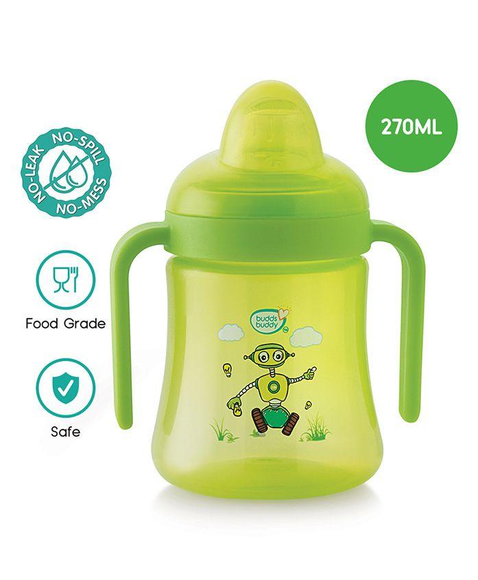 Buddsbuddy Polypropylene Premium 2 Handle Soft Spout Sipper Cup Green - 270 ml