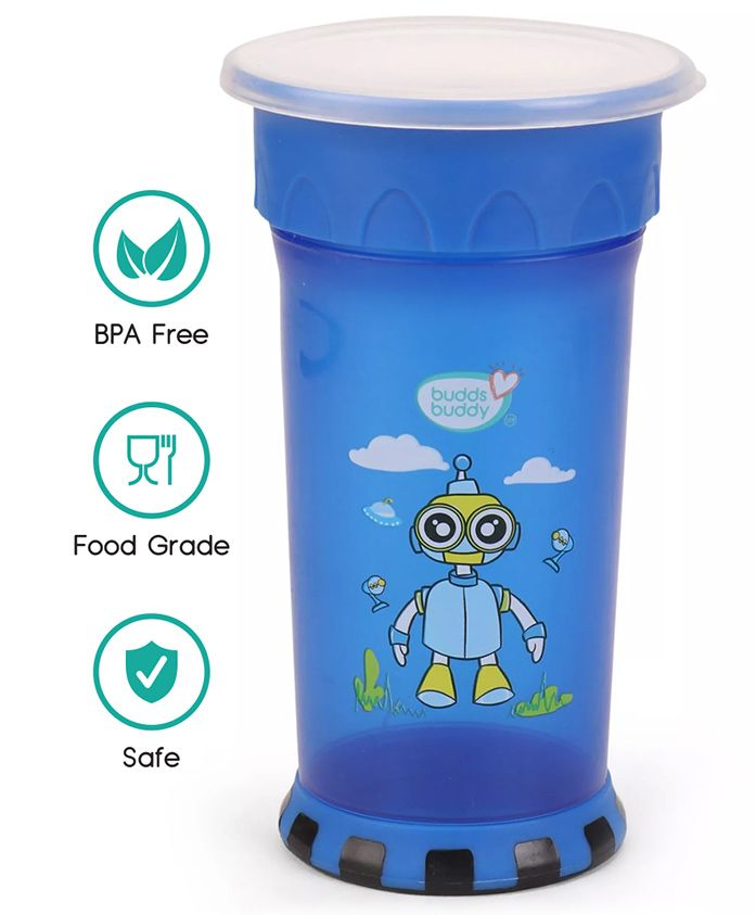 Buddsbuddy Premium Cup With Strong Base Blue - 370 ml