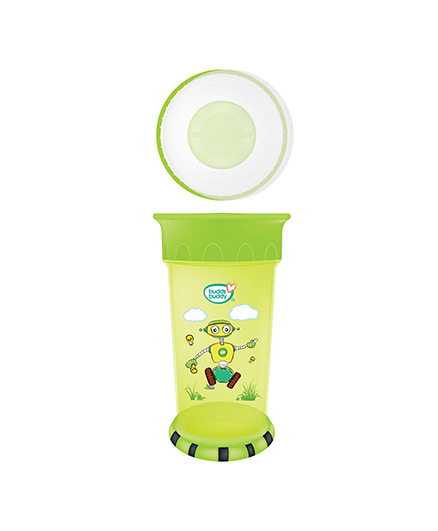 Buddsbuddy Premium All Round Cup With Strong Base Green - 360 ml
