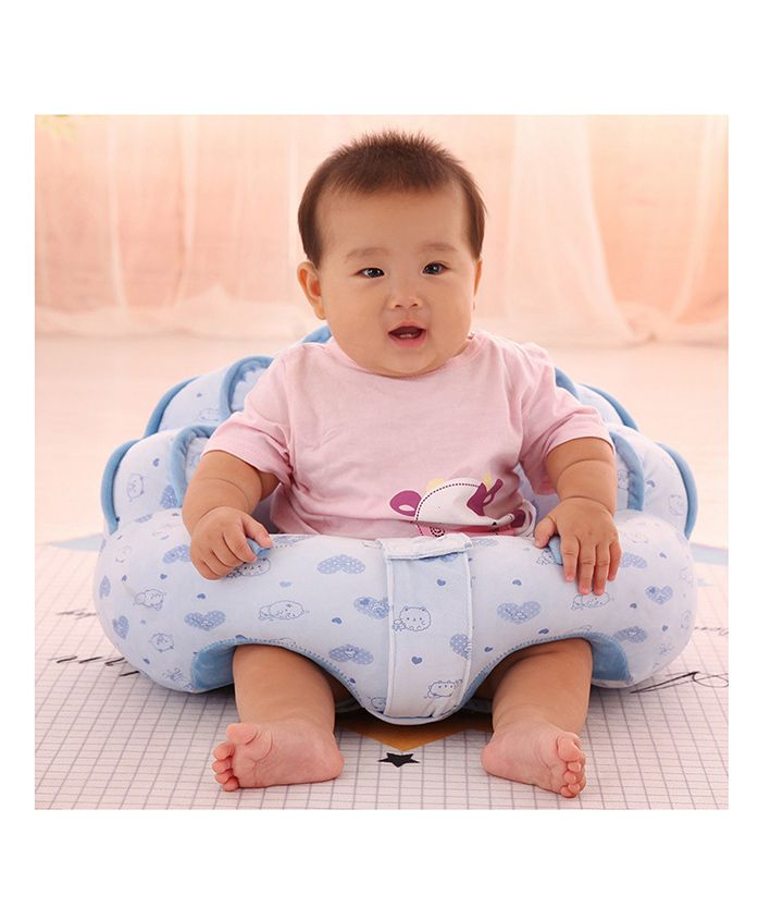Babymoon Portable Protective Designer Feeding Pillow - Blue