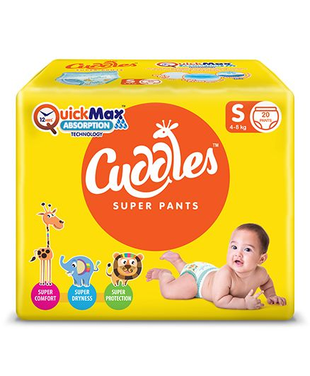 Cuddles Pant Style Diapers Small - 20 Pieces
