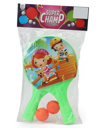 Ratnas Super Champ Table Tennis Set - Green (Print May Vary)