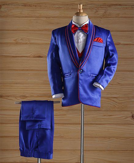 Jeet Ethnics Party Wear Coat Suit Set - Blue