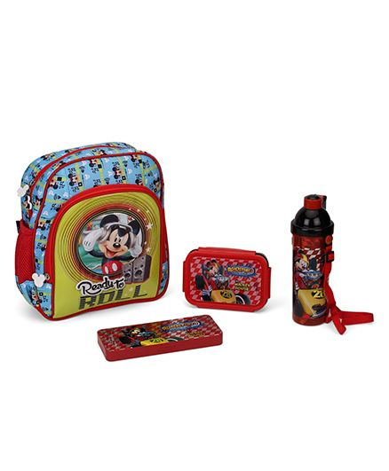 Disney Mickey Mouse & Friends School Kit Pack of 4 - Multicolour