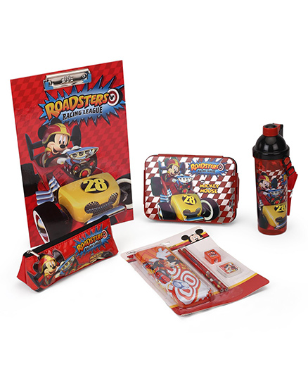 Disney Mickey Mouse & Friends School Kit Pack of 4 - Red