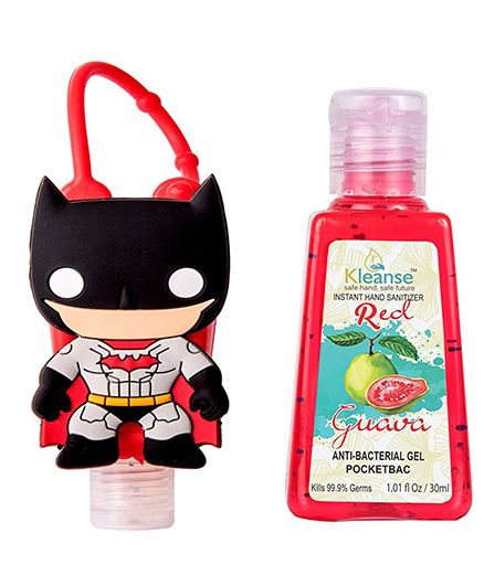 Kleanses Anti Bacterial Guava Hand Sanitizer With Batman Shape Holder - 30 ml