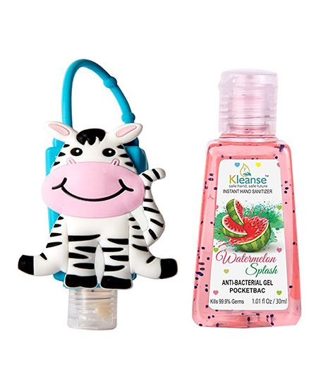 Kleanses Anti Bacterial Watermelon Hand Sanitizer With Zebra Shape Holder - 30 ml