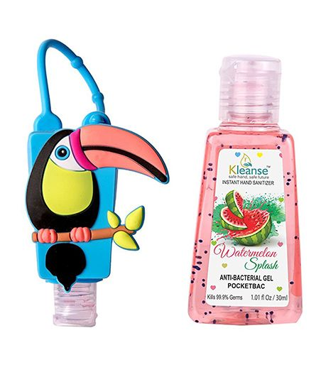 Kleanses Anti Bacterial Watermelon Hand Sanitizer With Bird Shape Holder - 30 ml