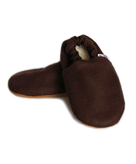Skips Solid Slip On Booties - Brown
