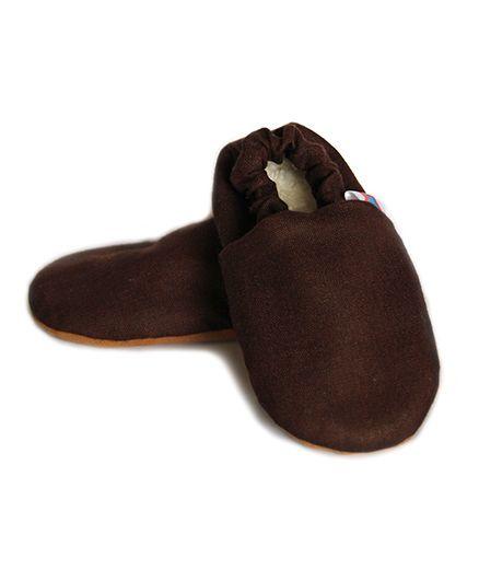 Skips Solid Slip On Booties - Brown