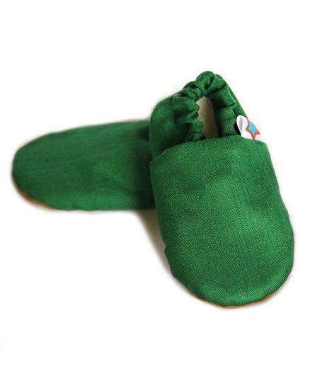 Skips Solid Slip On Booties - Green