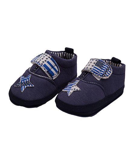 Kidofash Star Design Booties - Blue