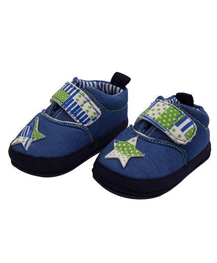 Kidofash Star Design Booties - Green