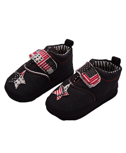 Kidofash Star Design Booties - Red