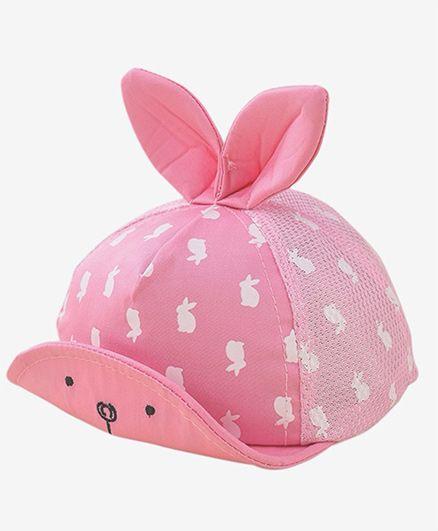 Little Hip Boutique Cute Bunny Eyes Cap - Pink