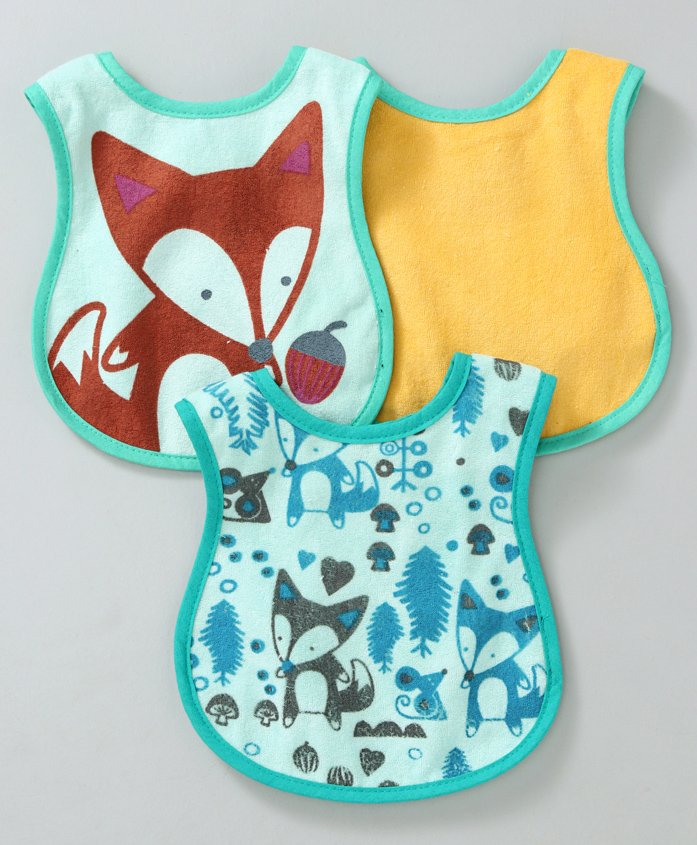Chicco Weaning Bibs Pack of 3 - Multicolour