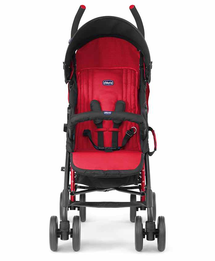 Chicco New Echo Stroller With Bumper Bar Scarlet - Red & Black