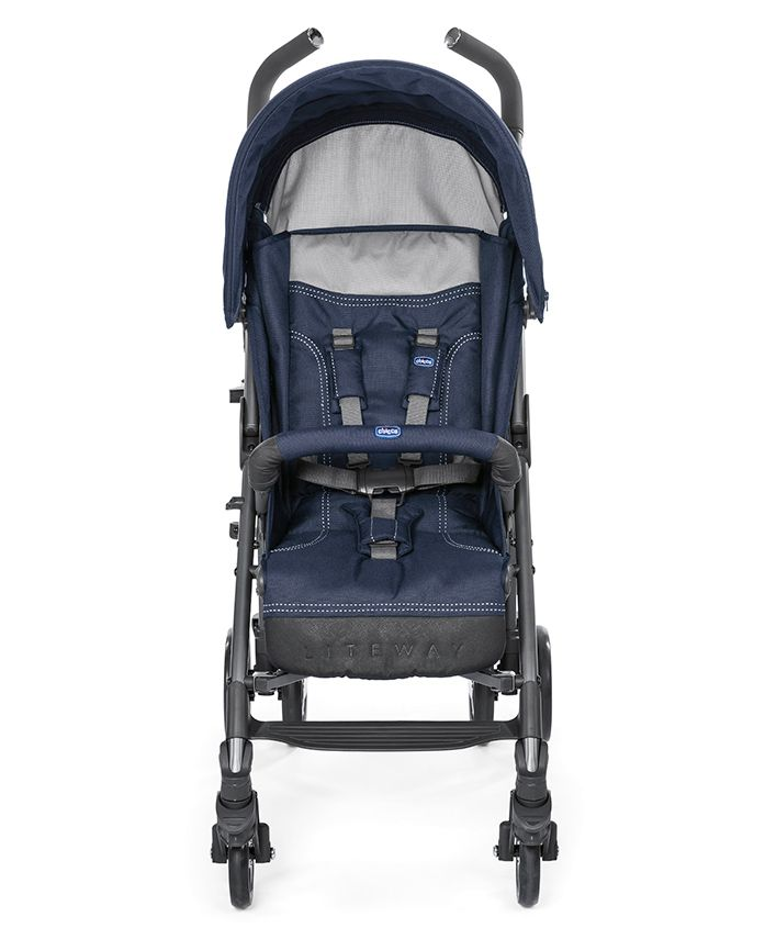 Chicco Lite Way 3 Basic Stroller - Black & Blue