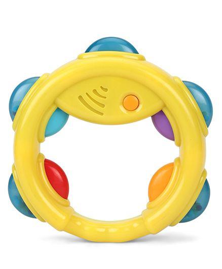 Giggles Tambourine Rattle - Yellow