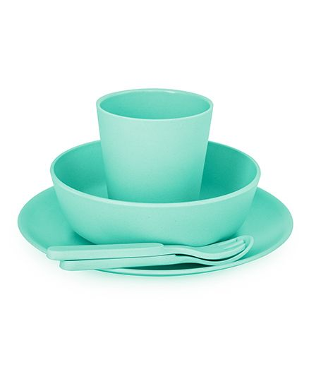 Bobo&Boo Bamboo Dinnerware Set of 5 - Green