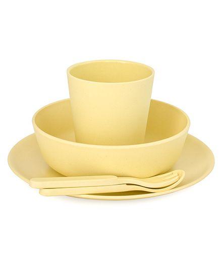 Bobo&Boo Bamboo Dinnerware Set of 5 - Yellow