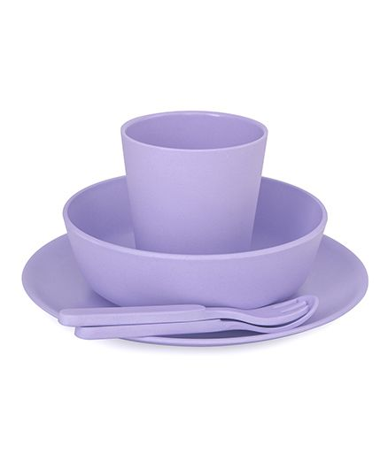 Bobo&Boo Bamboo Dinnerware Set of 5 - Purple