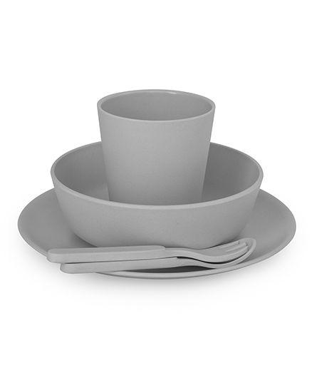 Bobo&Boo Bamboo Dinnerware Set of 5 - Grey