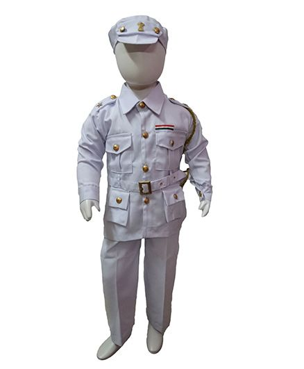 BookMyCostume Indian Navy Professionals & Community Helpers Fancy Dress Costume - Light Purple