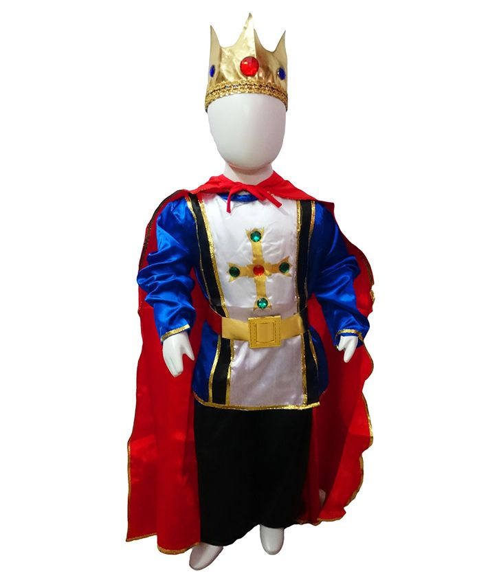 BookMyCostume Fairytale Prince Charming King Fancy Dress Costume - Red