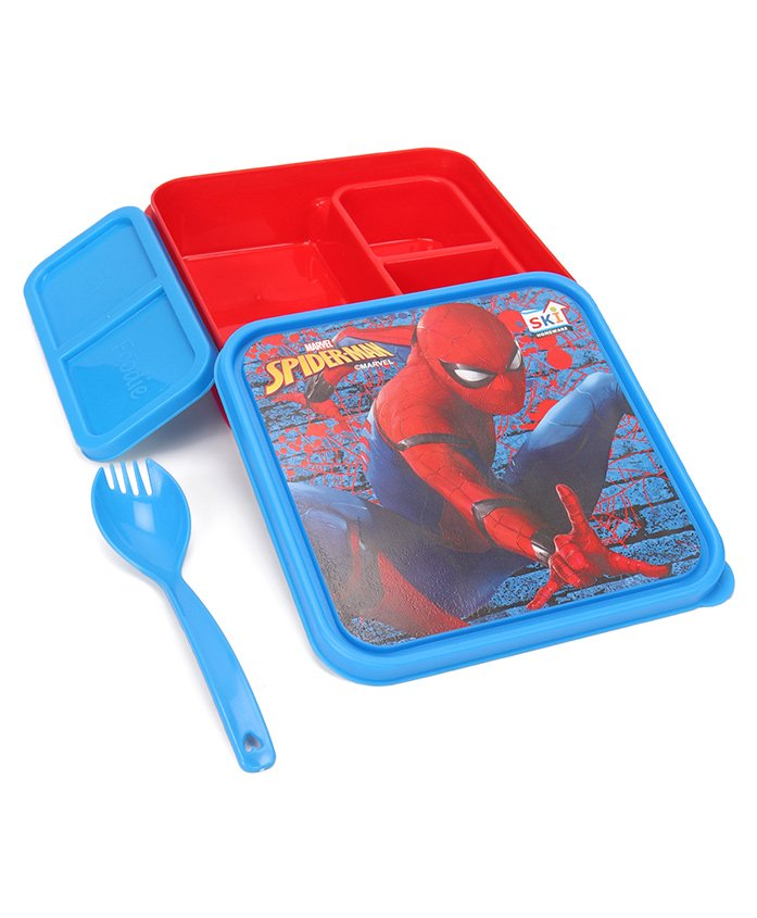 Marvel Spiderman Lunch Box - Red Blue
